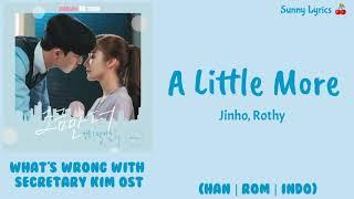 Jinho, Rothy - A Little More  Han/rom/indo  Indo Sub