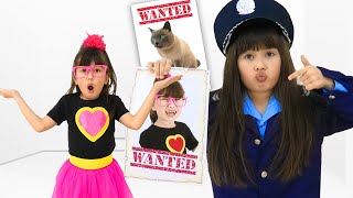 Abby Hatcher saves cat pretend play Police Chase Story for kids. Videos for Children