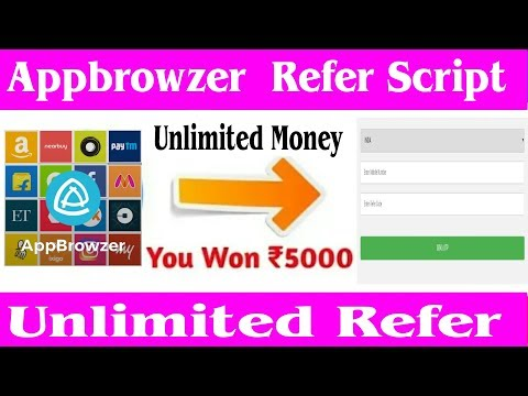 Appbrowzer Online OTP BYPASS SCRIPT !! Appbrowser Unlimited scratch card