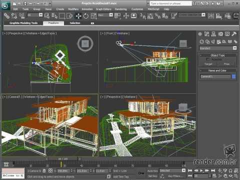 Curso 3ds max 2010 maquete eletr nica animando for Habitaciones 3d max gratis