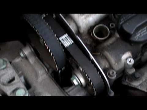 VW GOLF 1,4 16 valve  GASOLINE timing belt installation.mpg