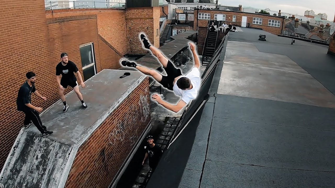 Did he make it?! Parkour Street Challenges 🇬🇧