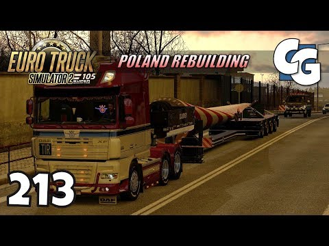ETS2 - Ep. 213 - Wind Turbine Blade Special Transport - ETS2 Poland Rebuilding Gameplay