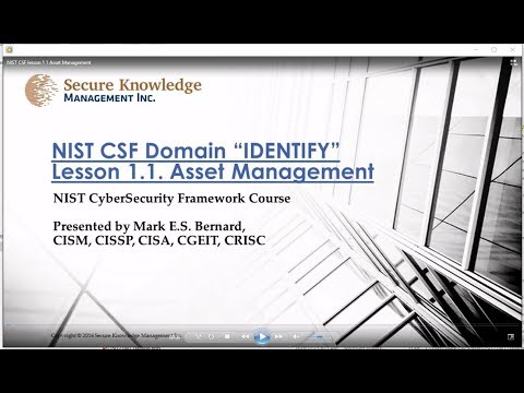 NIST CSF lesson 1 1 Asset Management