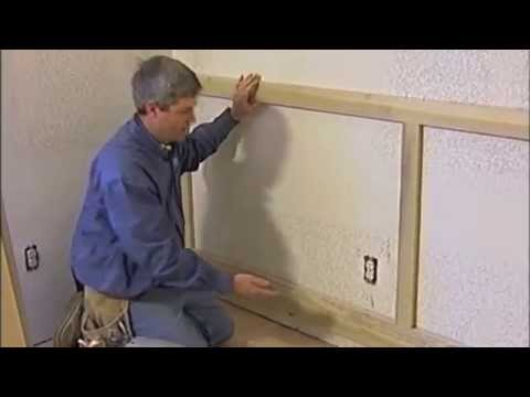 corrugated steel chair rail commercial tables and chairs trim carpentry wainscoting youtube