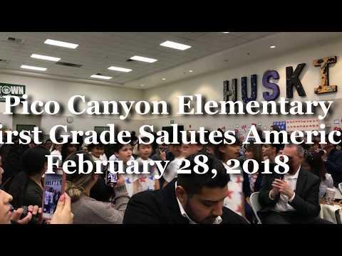 First Grade Salutes America - Pico Canyon Elementary