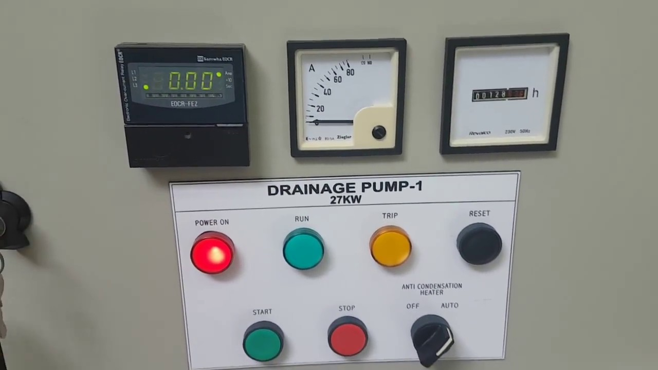 Water Pump Station 100kw Motor Control Panel Youtube