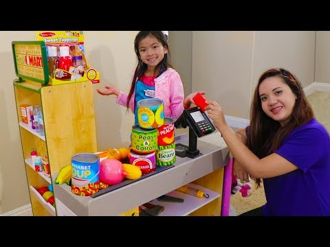 Emma Pretend Play Shopping with Giant Grocery Store Super Market Toy thumbnail