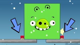 Angry Birds Kick Out Green Pigs - TRANSFORM TWO SQUARE BIRDS TO BIG TO KICK OUT PIGGIES!