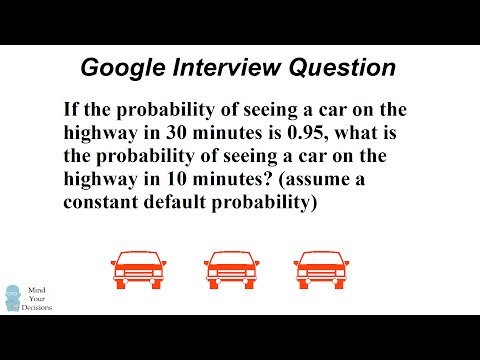 Can You Solve Google's Car Probability Interview Question?