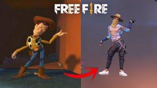 ORÍGEN DE LOS BAILES(emotes) DE FREE FIRE // vida real