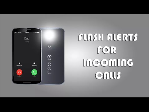How to Activate Android's Camera Flash As Incoming Call Notification
