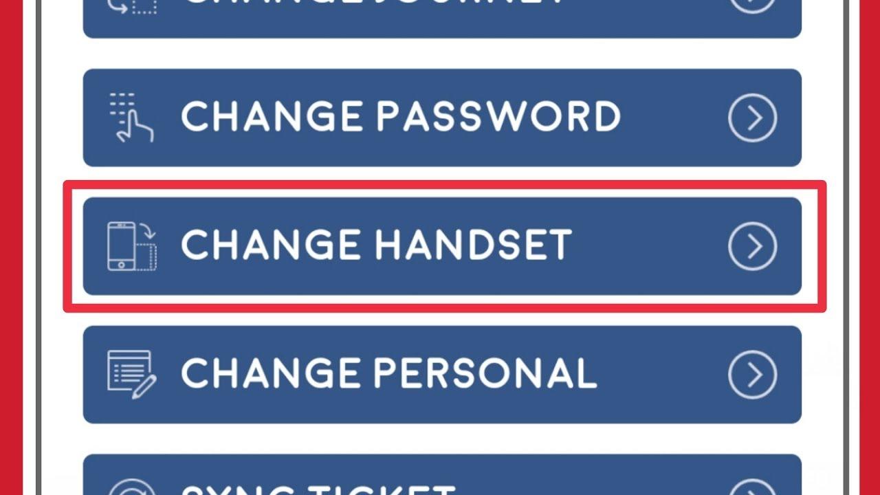 UTS app Handset Change Request
