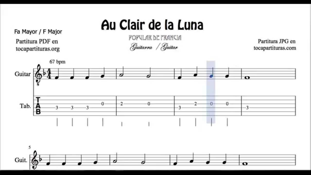clair de lune sheet music pdf guitar