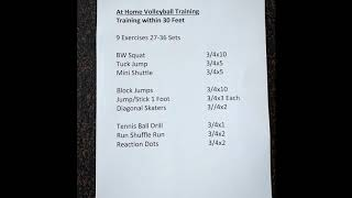 YP at Home Volleyball Workout