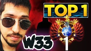 w33 back to top 1 mmr world best visage? dota 2 gameplay compilation