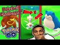 CATCHING TOGETIC & SNORLAX WITH A POKEBALL?? POKEMON GO POKEBALL CHALLENGE PART 2!