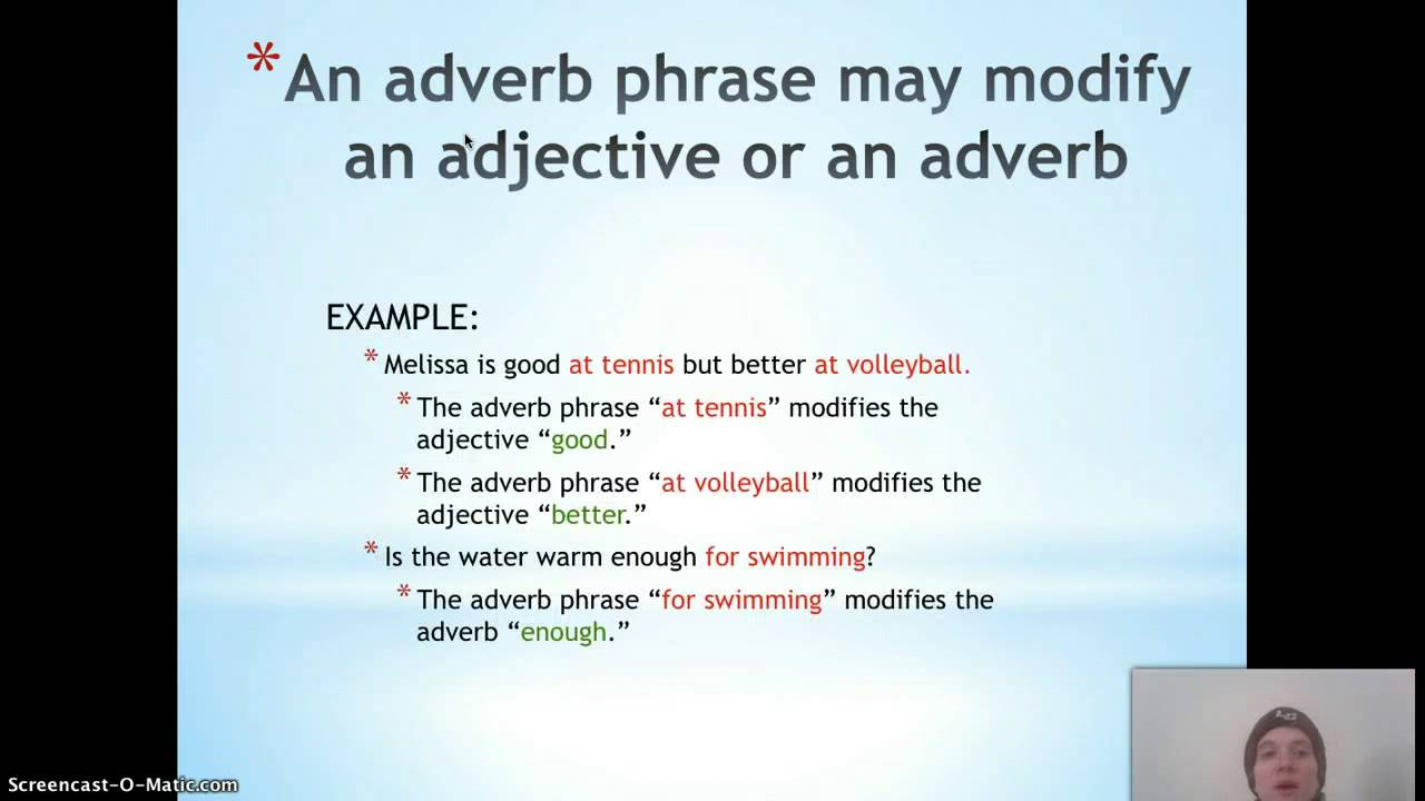 Adverb Adjective Phrases Lessons Tes Teach