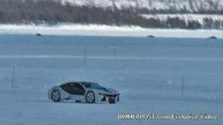 first spy video of bmw i8 hybrid sports car 2 3