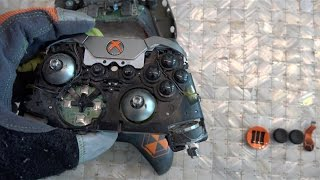 What's inside an Xbox One Elite Controller?(Let's cut open the hard to come by and CUSTOM Xbox One Elite Controller!! We've wondered what they look like inside so we cut this one open! This controller ..., 2015-11-22T17:09:36.000Z)