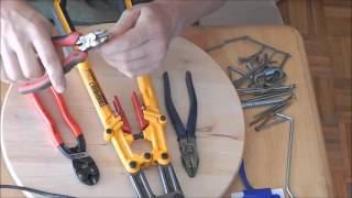 Knipex Mini Bolt Cutters: Test and Evaluate(Knipex Mini Bolt Cutters: small,yet deceiving for their size. Just a quick demo and test. The Urban Prepper talk Bolt Cutters https://youtu.be/P8wZ5rMmYV0 Buy ..., 2015-11-15T21:13:33.000Z)