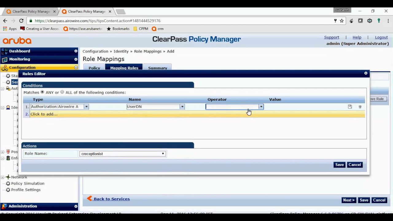 How to login in Clearpass Policy Manager using AD credentials