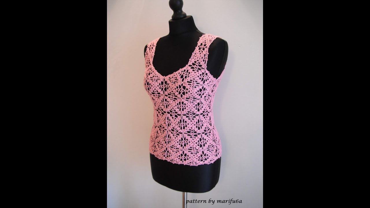 Easy Crochet Top Patterns For Beginners : how to crochet summer top for beginners by marifu6a para ...