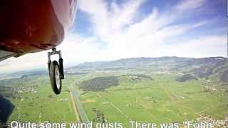 Take off, flight and landing at my home airfield.