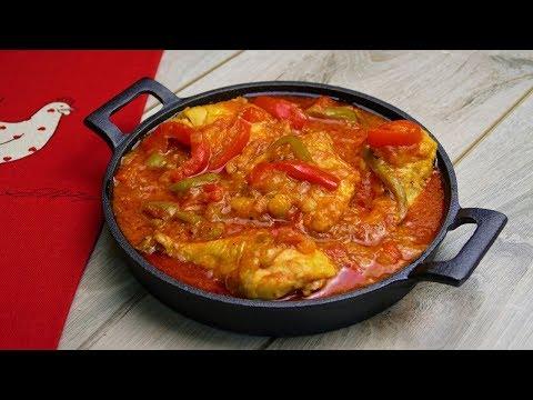 Тушеная курица в томатном соусе или курица по-баскски