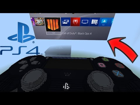REAL WORKING PLAYSTATION 4 In Minecraft PE (Redstone Build)