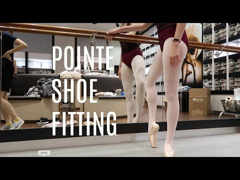 POINTE SHOE FITTING   6/26/17