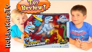 Jurrasic World Hero Mashers! Toy Play, Review + Box Open by HobbyKidsTV