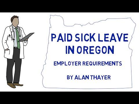 Oregon Sick Leave: Employer Requirements