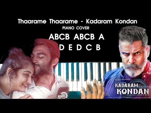 Thaarame Thaarame - Kadaram Kondan Song Piano Cover Version WITH NOTES | AJ Shangarjan