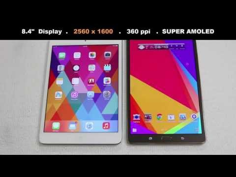 """iPad Mini 2 Retina vs Samsung Galaxy Tab S 8.4"""" Full Comparison"""