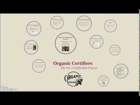 Organic Pre-Certification Process - Crop Producers