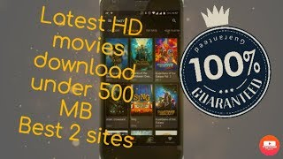 Download latest hollywood bollywood HD movies under 500 MB