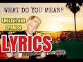 WHAT DO YOU MEAN? (Cover by Carson Lueders) (Lyrics English & Español)