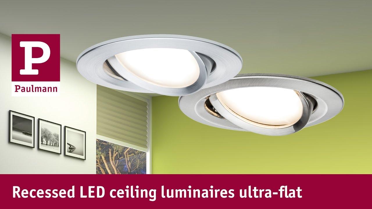 Ultra-flat LED recessed spotlights - YouTube