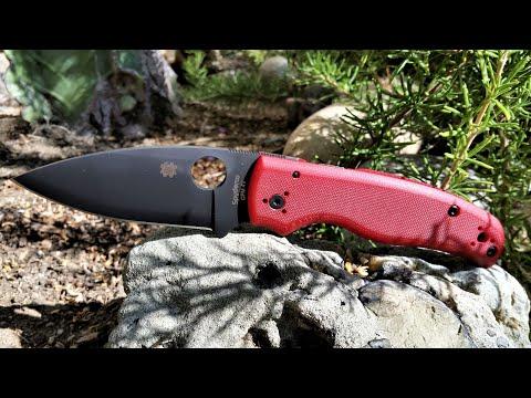 Spyderco Shaman ST Nicks Exclusive 4V Red G10 Knife Video