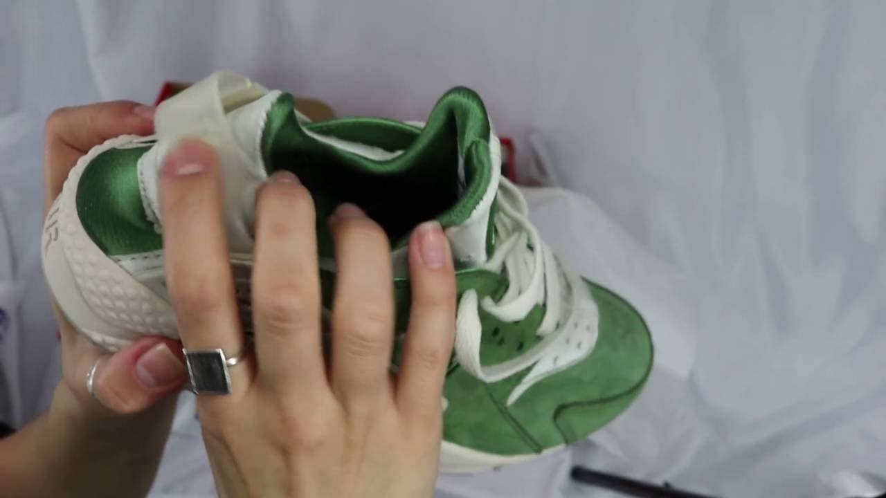 7616da58bc93 Unboxing - Nike Air Huarache Run Prm 704830-300 Treeline   Light Bone -  Bamboo - YouTube