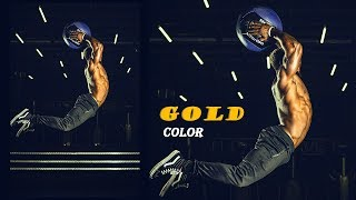 Color Grading - Getting Gold Colors | Color Correction Guide in Photoshop