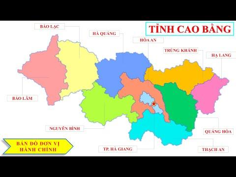 Bản đồ tỉnh Cao Bằng -- Vị trí tỉnh Cao Bằng trên bản đồ hành chính Việt Nam.