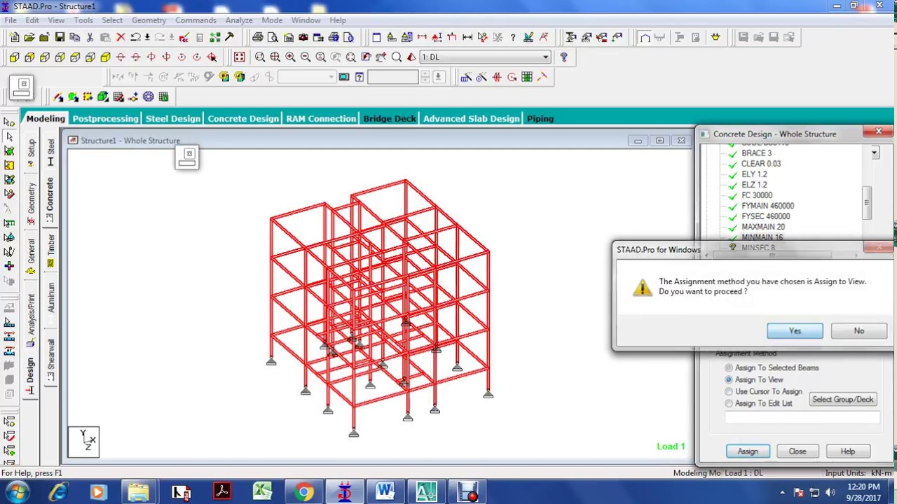 3 STORIED RCC BUILDING FRAME MODELING ANALYSIS AND DESIGN IN STAAD ...