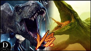 T-Rex (JURASSIC PARK) VS Skull Crawler (KONG: SKULL ISLAND) | BATTLE ARENA