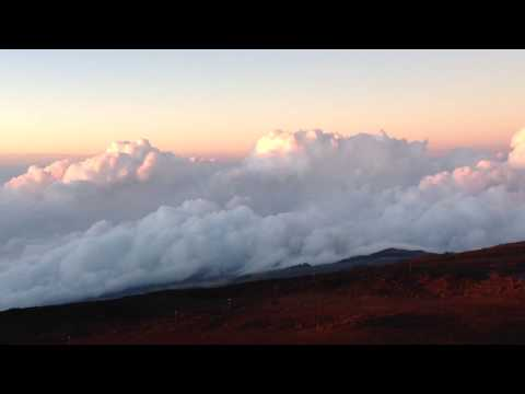 Sunset at Haleakala National Park - Maui Hawaii