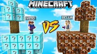 WYSPA LUCKY BLOCK PRO VS WYSPA LUCKY BLOCK NOOB (Minecaft Lucky Block Challenge) | Vito vs Bella