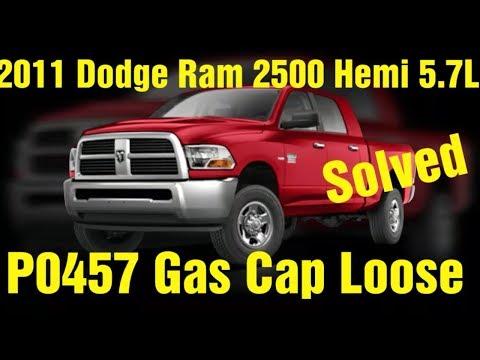 P0457 Dodge Ram 2500 5.7L Gas Cap Loose