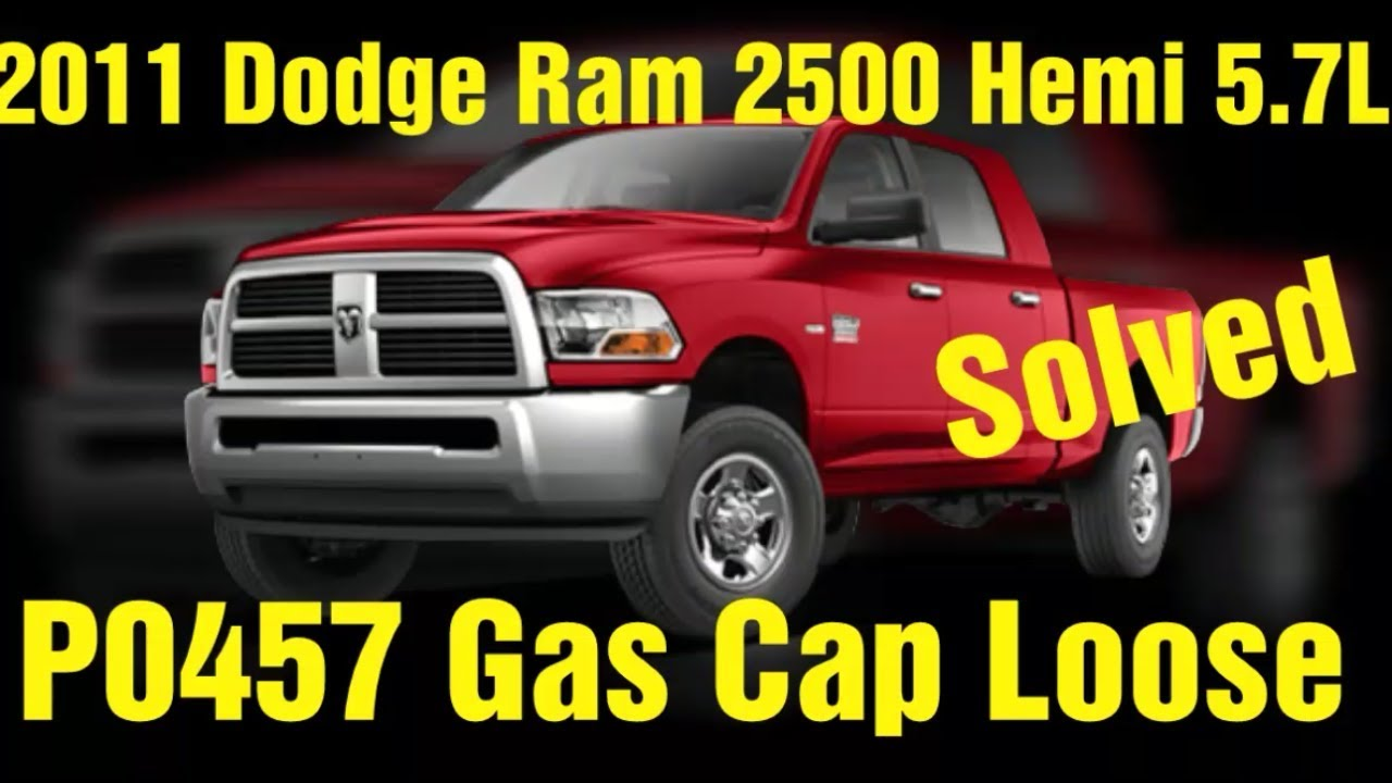 P0457 Dodge Ram 2500 5 7l Gas Cap Loose Youtube