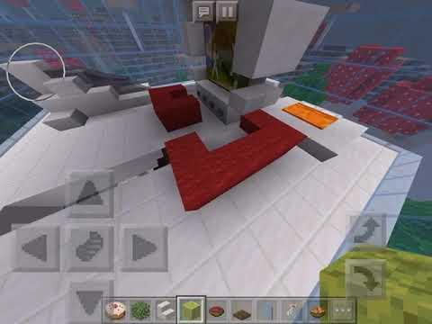 Modern house in Minecraft.